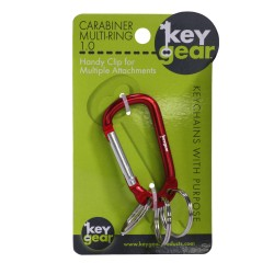 Carabiner Multi-Ring 1.0, Red ULTIMATE-SURVIVAL-TECHNOLOGIES