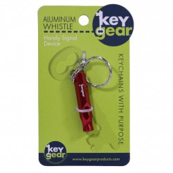 Aluminum Whistle, Red ULTIMATE-SURVIVAL-TECHNOLOGIES