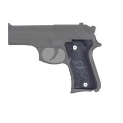 Beretta 92 Compact Auto Rub Grip Pan Blk HOGUE