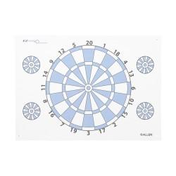 Dartboard Paper Target W/ Pins, ALLEN-CASES