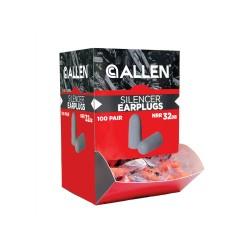 Foam Ear Plugs 100Pr Gravity Feed Box,Org ALLEN-CASES