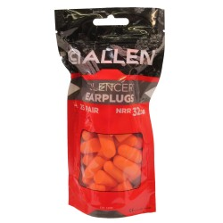 Foam Ear Plugs 25 Pairs Re-Usable Bag,Org ALLEN-CASES