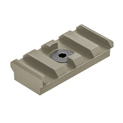 4Slot MLOK Picatinny Rail SectionFDE LEAPERS-INC