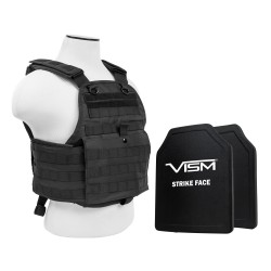 "Plate Carrier Vest/Two 10""X12""/Blk NCSTAR"