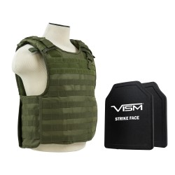 "Plate Carrier Vest/Two 10""X12""/Grn NCSTAR"