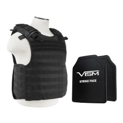 "QR Carrier Vest/Two 10""X12""/Blk NCSTAR"