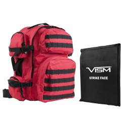 "Tactical Backpack/One 10""X12"" SBP/Red NCSTAR"