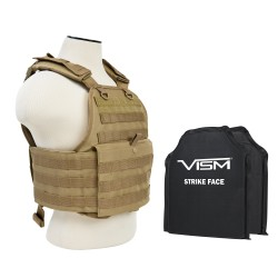 "Plate Carrier Vest/Two 10""X12""/Tan NCSTAR"