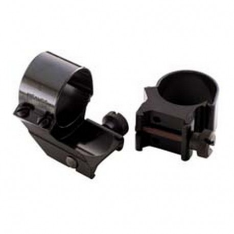 "Det Top Mount Rings 1"" High Blk WEAVER"