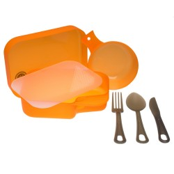 PackWare Mess Kit, Orange ULTIMATE-SURVIVAL-TECHNOLOGIES