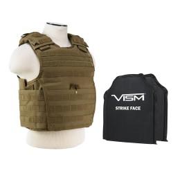 "Epc Vest,2 8""X10"" Rctngl Cut Sbp/Tan/XS-S NCSTAR"