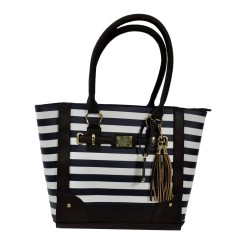Tote Style Purse w/Holsters - Navy Stripe BULLDOG-CASES
