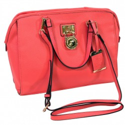 Satchel Style Purse w/Holster - Coral BULLDOG-CASES