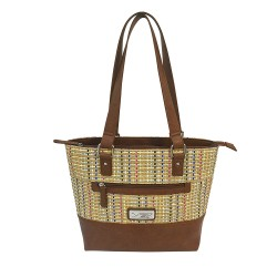VISM Concealed Carry Woven Tote- Brown NCSTAR