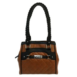 Concealed Carry Braided Tote- Brn W/ Blk NCSTAR