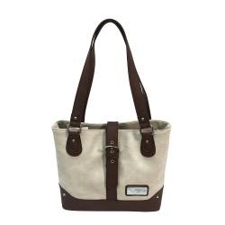 Concealed Carry Shldr Bag-Off Wht/Brgundy NCSTAR