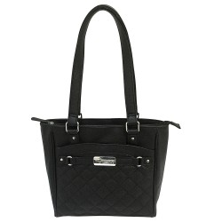 VISM Concealed Carry Quilted Tote- Black NCSTAR