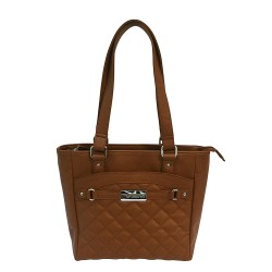 VISM Concealed Carry  Quilted Tote- Brown NCSTAR