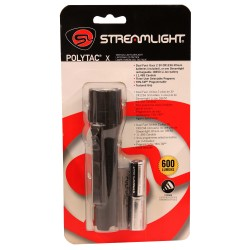 PolyTac X,600 lu,two CR123A lithi,Blk,CP STREAMLIGHT