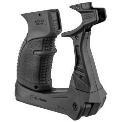 AK-47 Quick Dep Bipod w an INtPistol Grip FAB-DEFENSE
