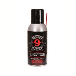 BLK CLNR Aerosol Black 4Oz w/Straw,Can HOPPES