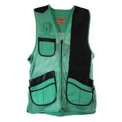 MIZ Women's Mesh Vest, Lthr Trm LH-MED-TQ PEREGRINE