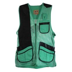 MIZ Women's Mesh Vest, Lthr Trm RH-MED-TQ PEREGRINE