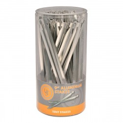 Aluminum Stake 9in, Sellinder 48-ct ULTIMATE-SURVIVAL-TECHNOLOGIES