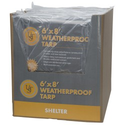 Weatherproof Tarp, 6'x8' ULTIMATE-SURVIVAL-TECHNOLOGIES